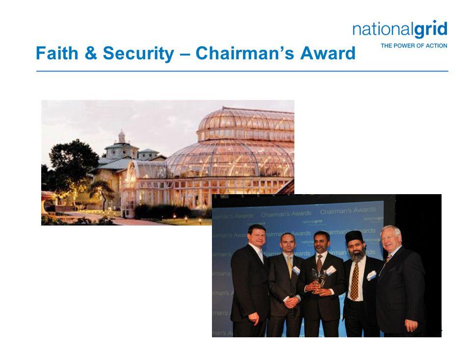 14 Faith & Security – Chairman's Award