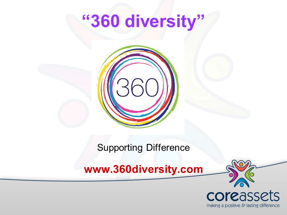 360 diversity Supporting Difference www.360diversity.com