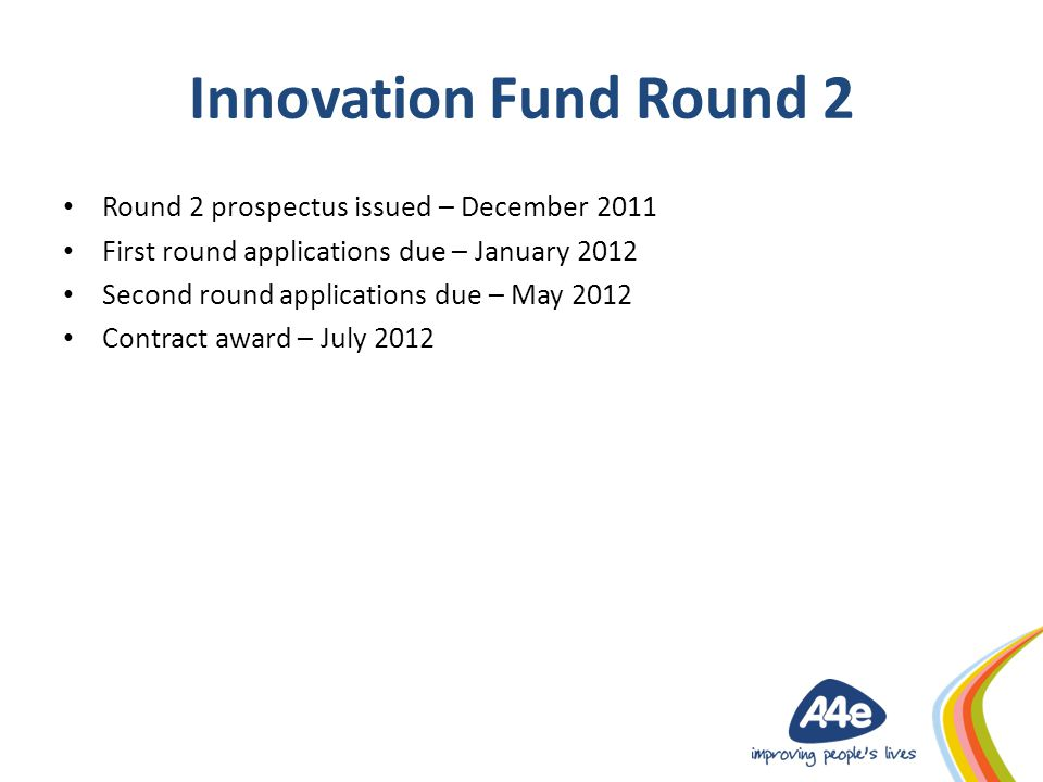 Proposed approach to Round 2 Basic EOI application process for partners (excluding those who applied through Round 1).