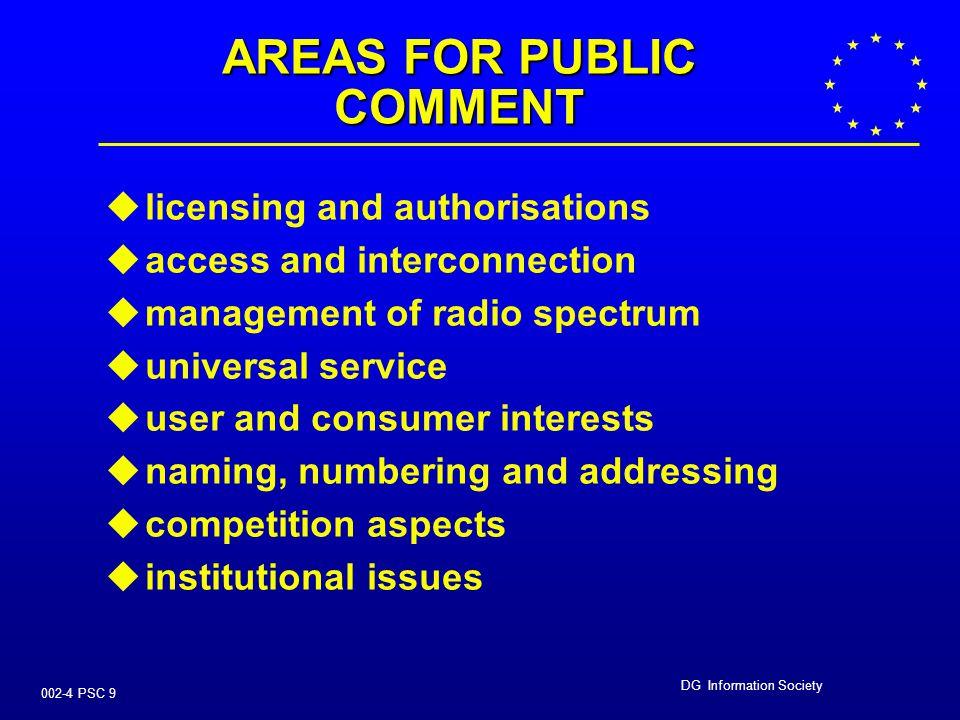 DG Information Society 002-4 PSC 19