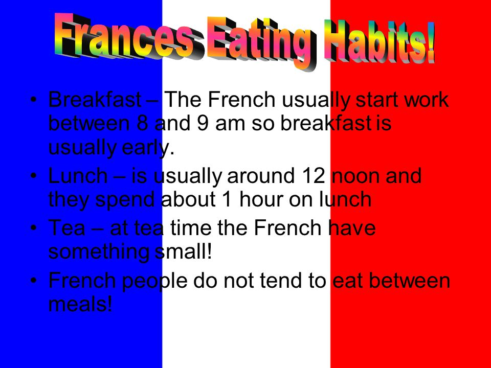 France has many different types of famous food and drinks.