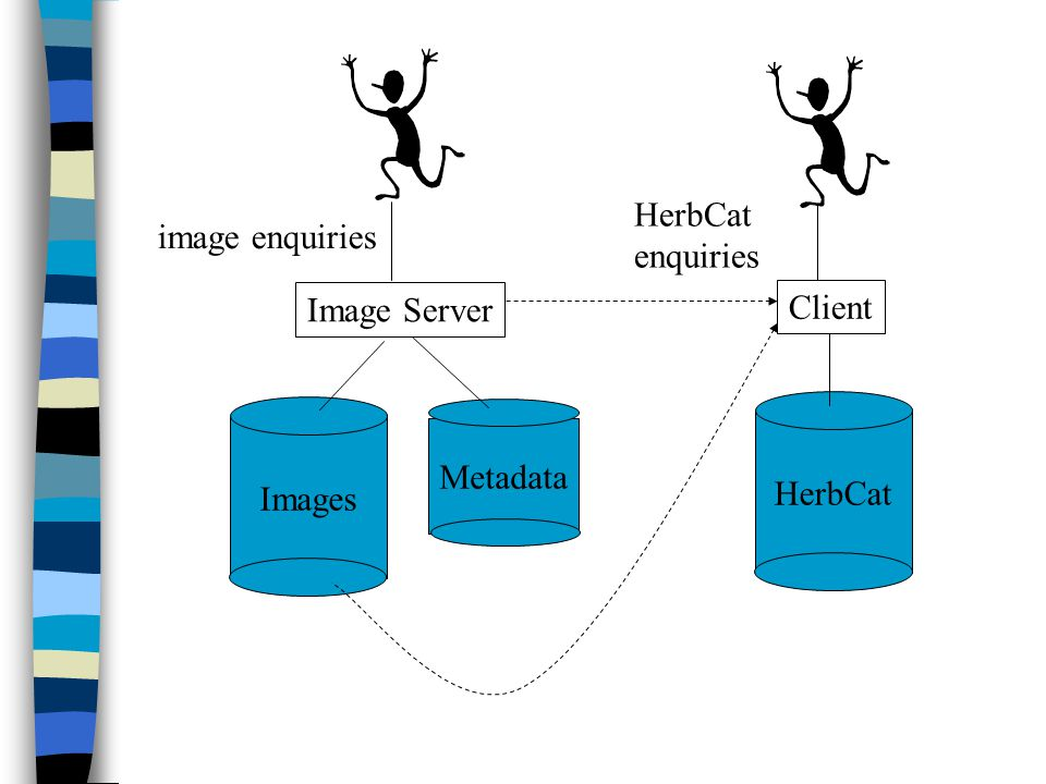 HerbCat Client Image Server Images Metadata image enquiries HerbCat enquiries
