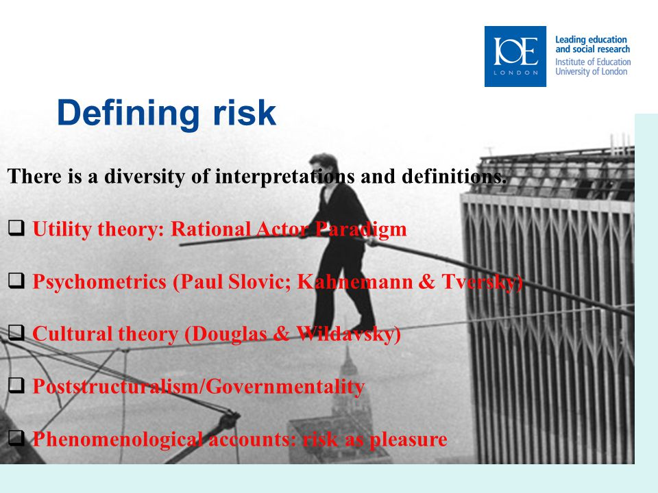 4 Curriculum responses to the need for risk education Science Significantly development placing emphasis on: Understanding science as a social practice which involves uncertainties and probabilities; Judgements about science in society need to blend scientific and other forms of discourse; There are now several examples of widely-used curriculum schemes on risk, although in relatively few countries and then distributed unevenly.