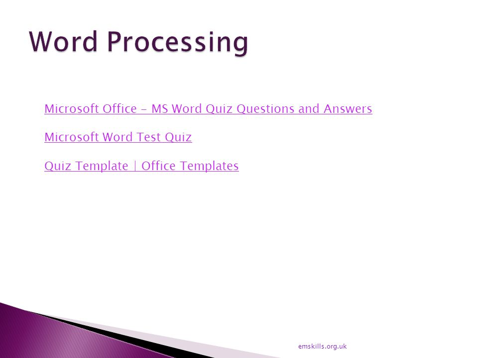 Microsoft Office - MS Word Quiz Questions and Answers Microsoft Word Test Quiz Quiz Template | Office Templates