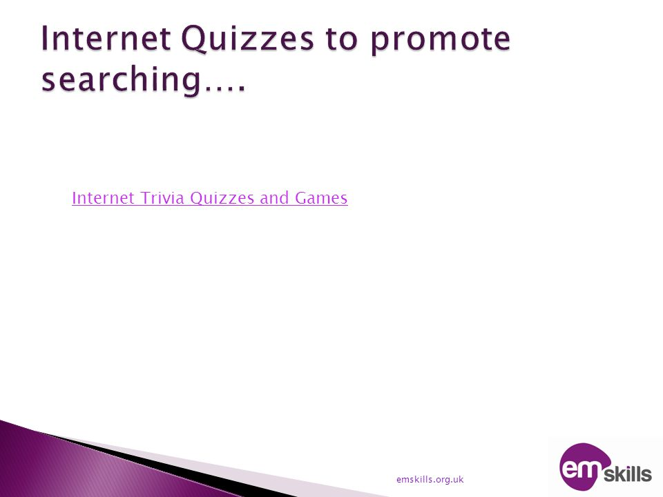 Internet Trivia Quizzes and Games
