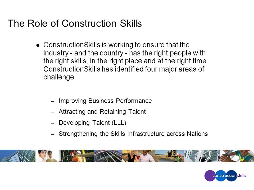 National Skills Academy for Construction North RP London RP E/Mids RP South West RP South East RP Denne