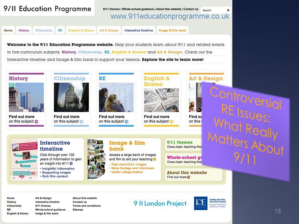 www.911educationprogramme.co.uk 15