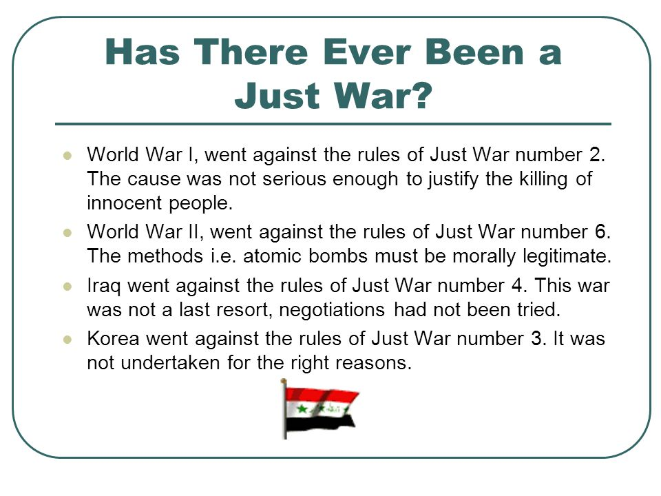 What wars used to be like….