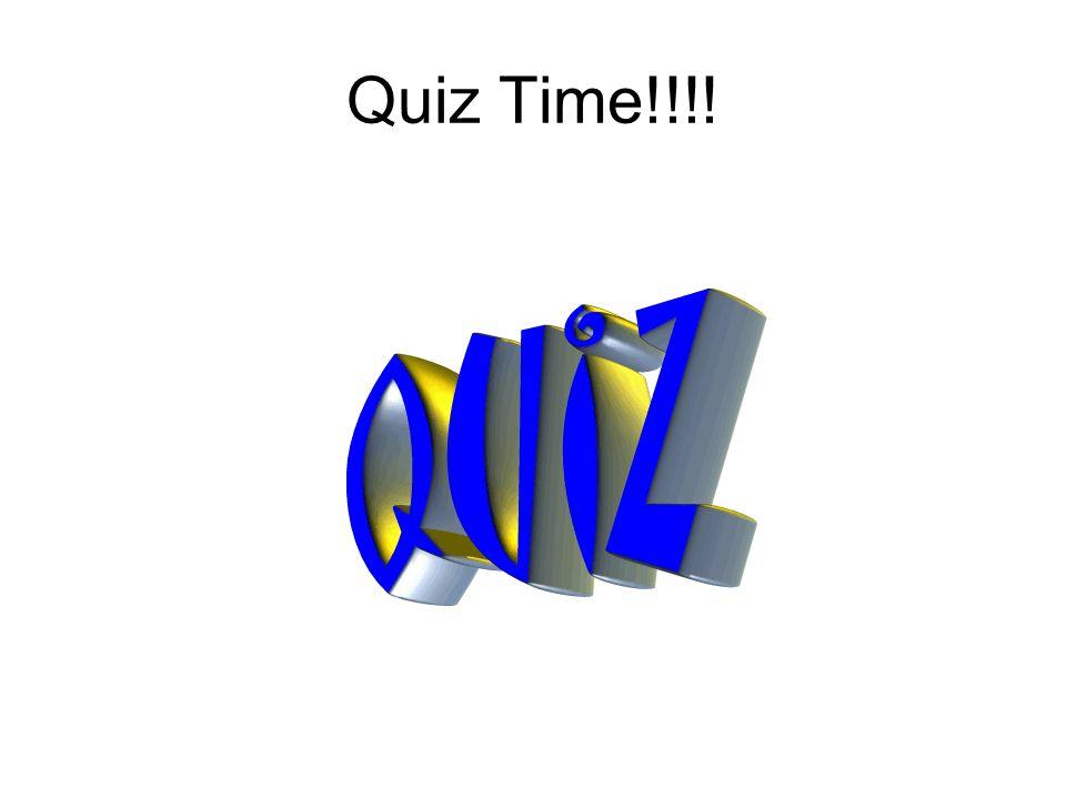 Quiz Time!!!!