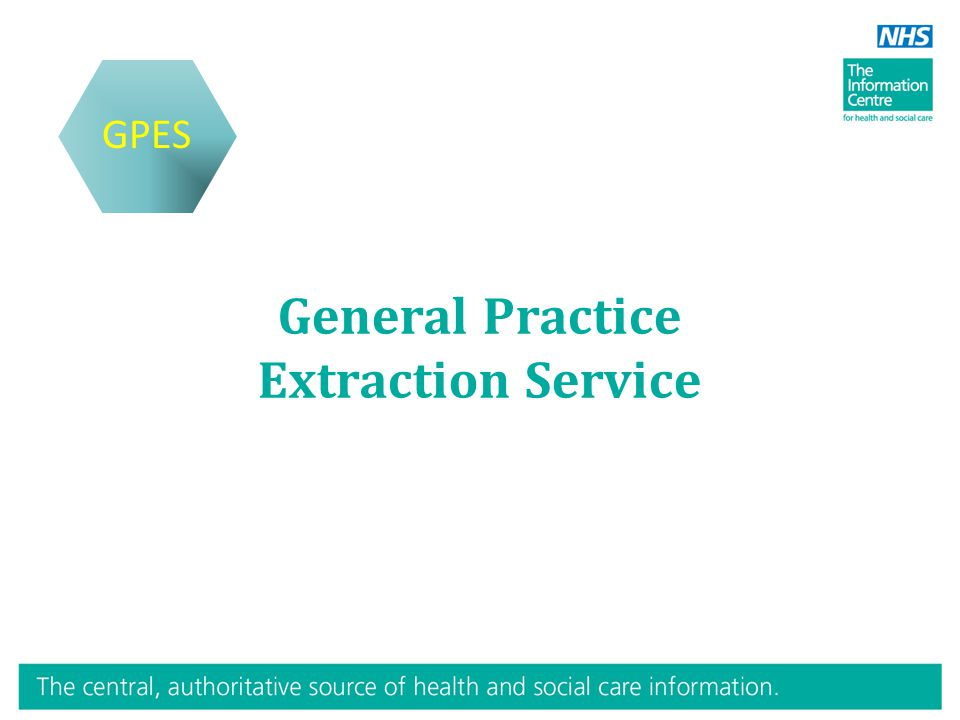 General Practice Extraction Service GPES
