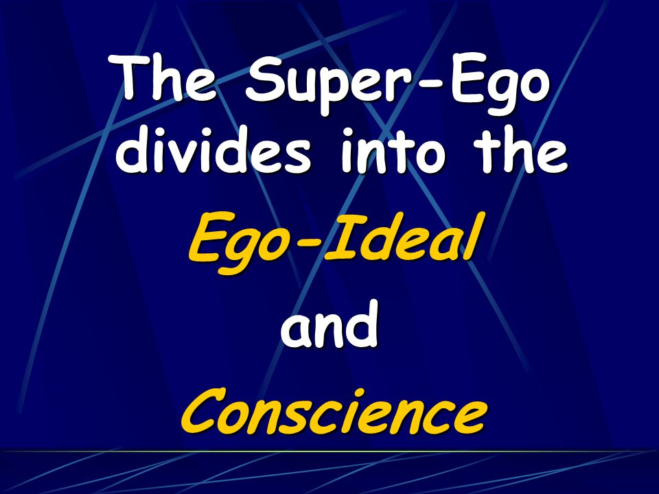 The Super-Ego divides into the Ego-IdealandConscience