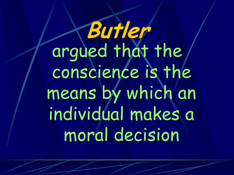 Conscience 'adjudicates' between these two interests