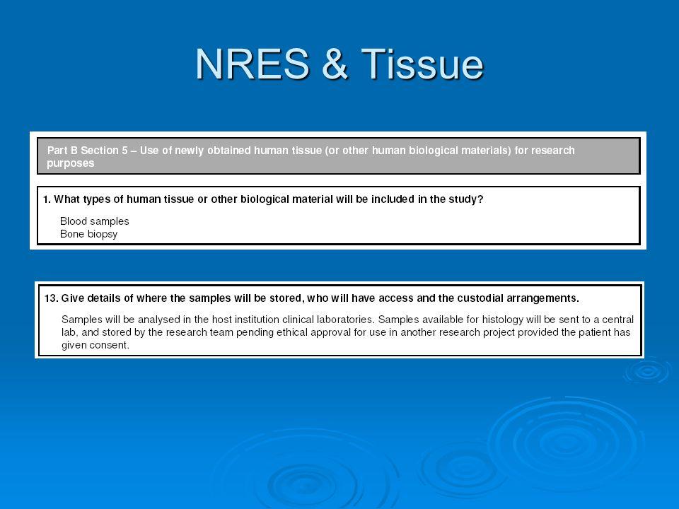NRES & Tissue