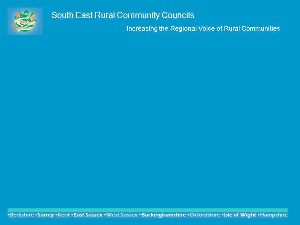 9 South East Rural Community Councils Increasing the Regional Voice of Rural Communities