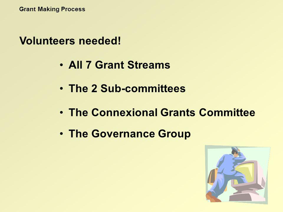 Volunteers needed.