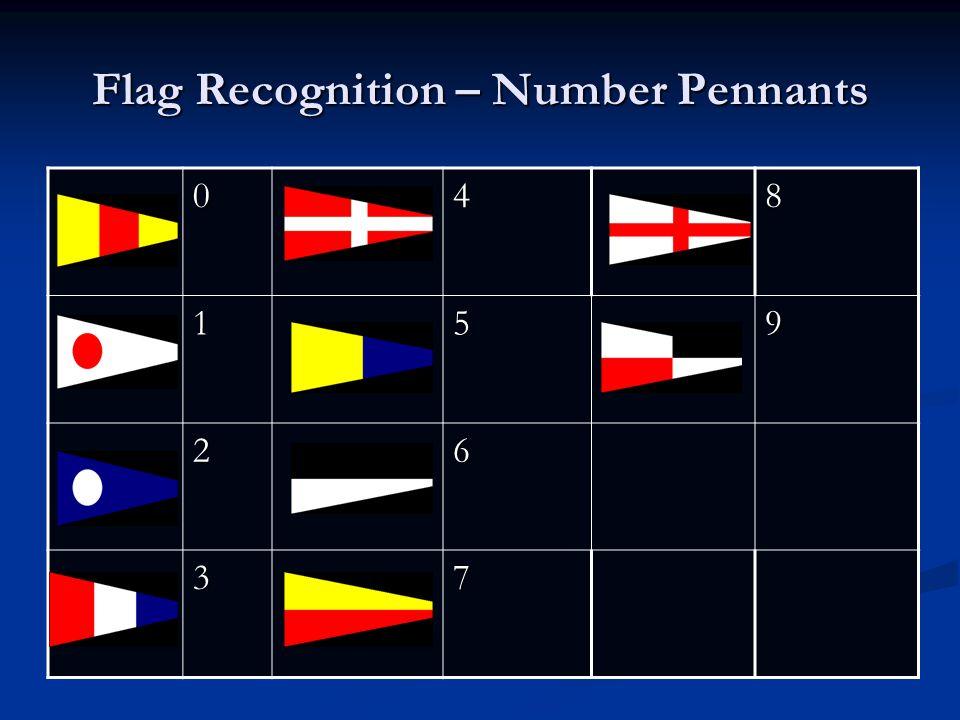 Flag Recognition – Number Pennants 048 159 26 37