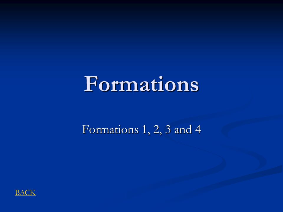 Formations Formations 1, 2, 3 and 4 BACK
