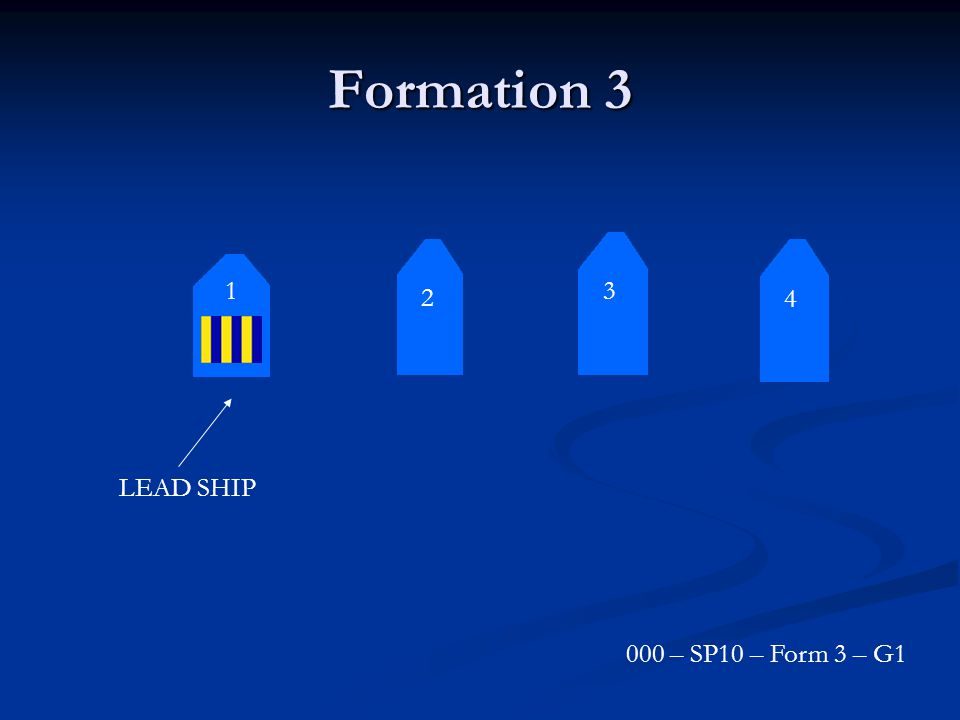 Formation 3 3 2 1 4 LEAD SHIP 000 – SP10 – Form 3 – G1