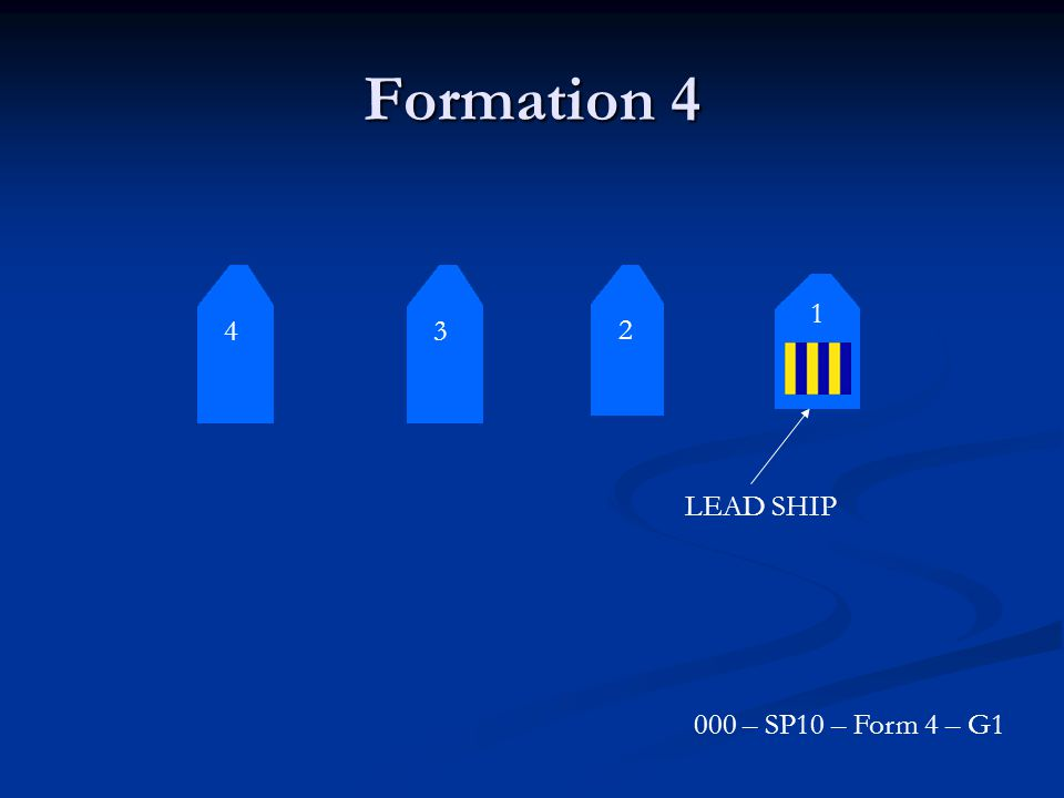 Formation 4 3 2 1 4 LEAD SHIP 000 – SP10 – Form 4 – G1