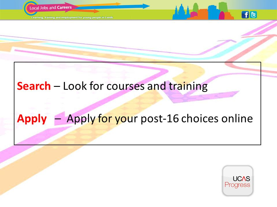 Look at the Leeds Pathways home page first to see all the options you have…Leeds Pathways