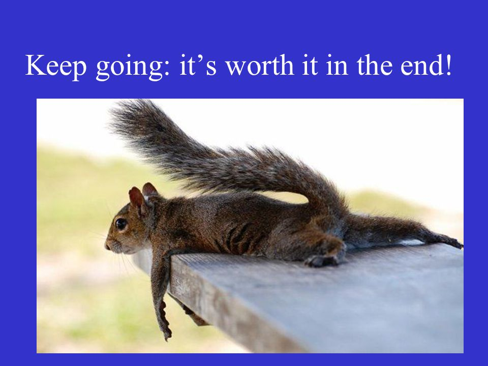 Keep going: it's worth it in the end!