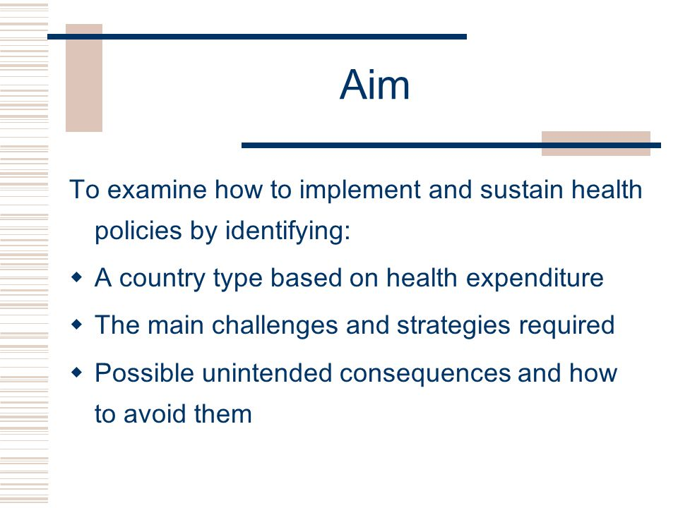 Political commitment  Lobby parliamentary committee on health  Hold consultation meetings to demonstrate plans and health outcomes  Educate politicians about good health leading to development and health benefits  Remind them that health is in their manifesto!
