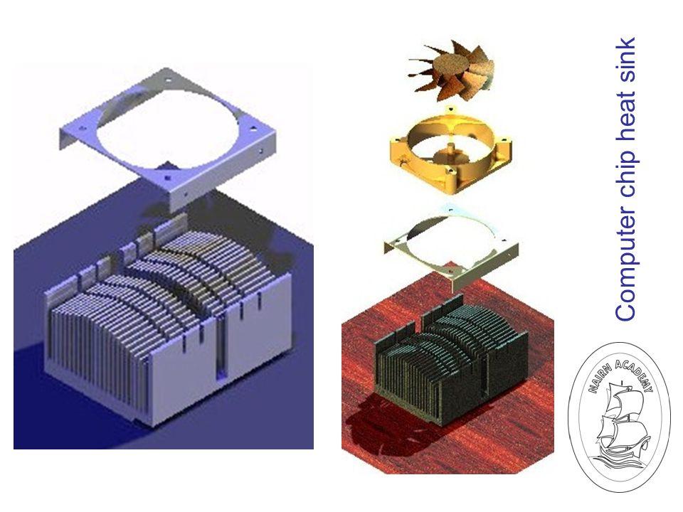 Computer chip heat sink