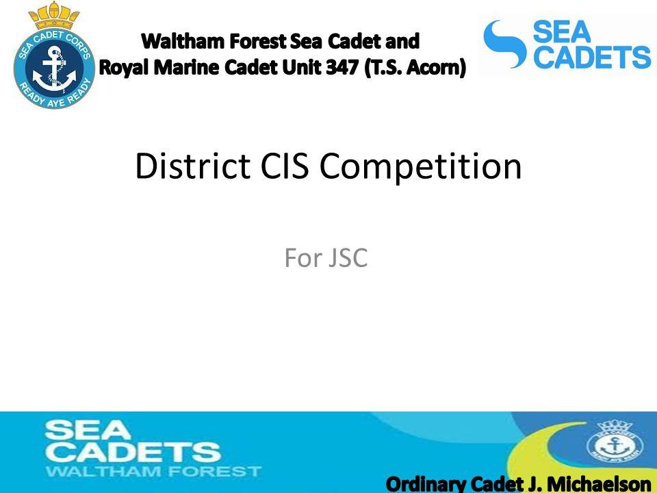 District CIS Competition For JSC