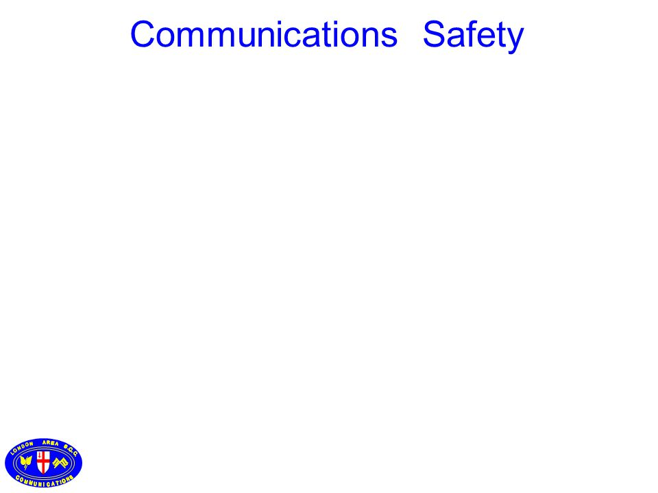 CO 2 Fire Precautions and Extinguishers Communications Safety
