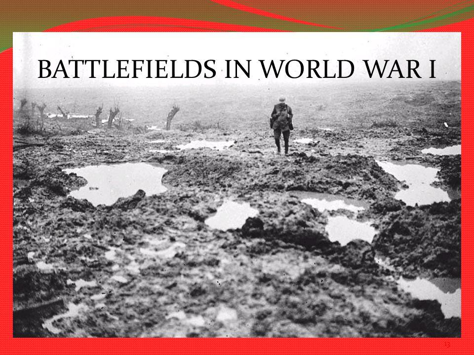 13 BATTLEFIELDS IN WORLD WAR I