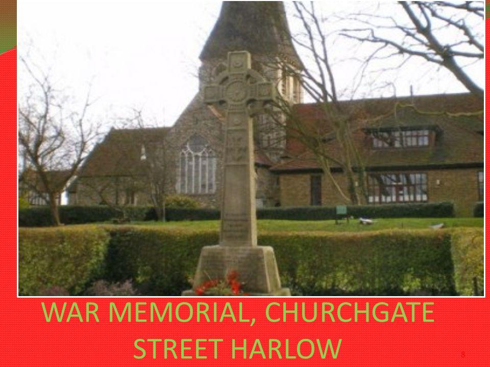 WAR MEMORIAL, CHURCHGATE STREET HARLOW 8