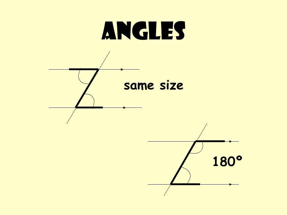 Angles 180º same size
