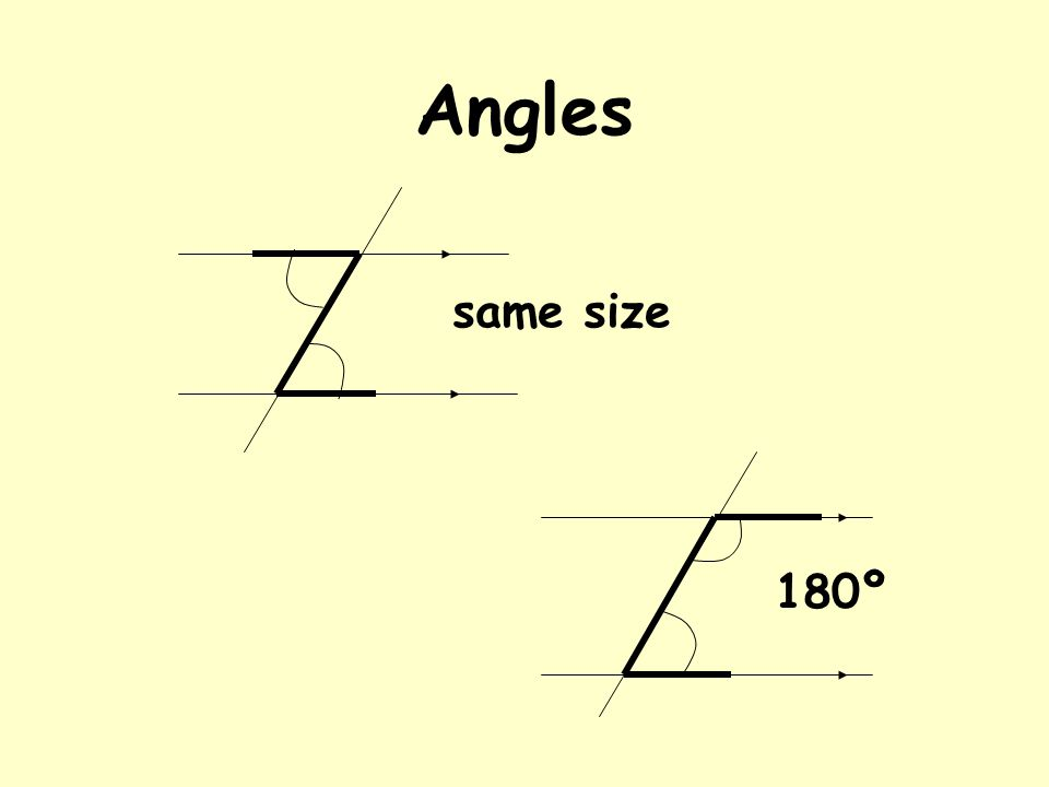 Angles 180º same size