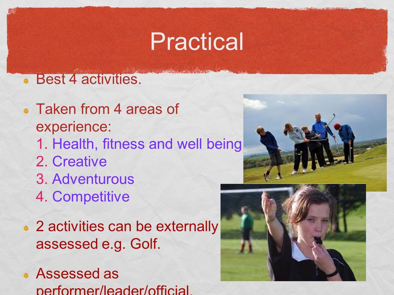 BTEC Sport Work related course.Achieved by completing 4 Units giving you 30 credits.