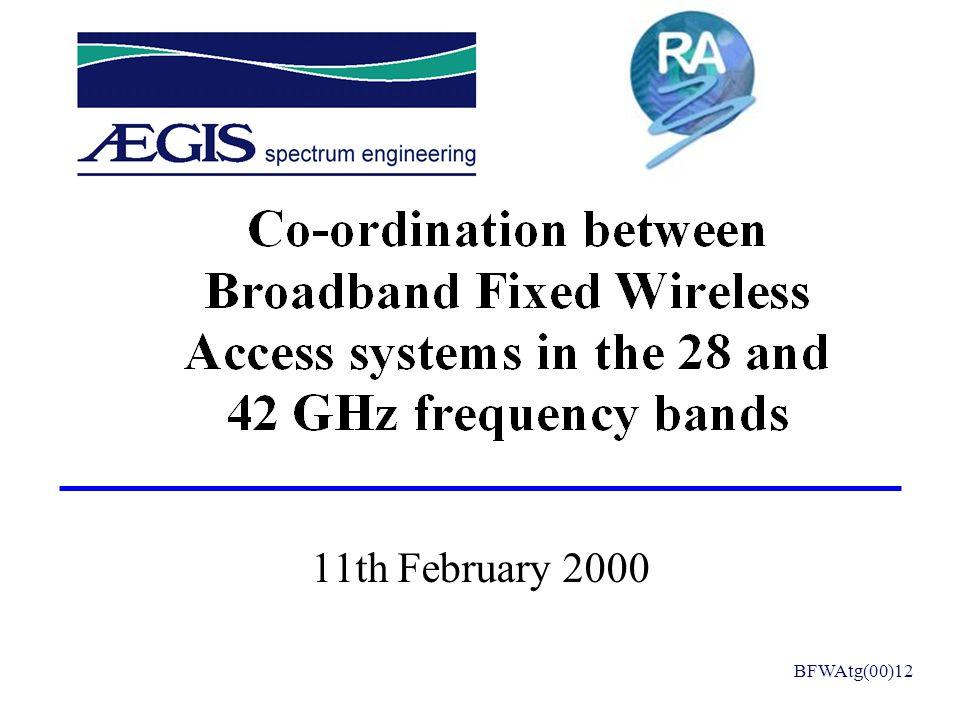 11th February 2000 BFWAtg(00)12