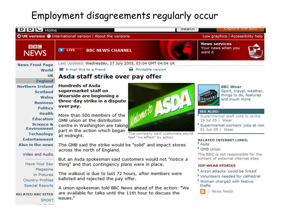 Employment disagreements regularly occur
