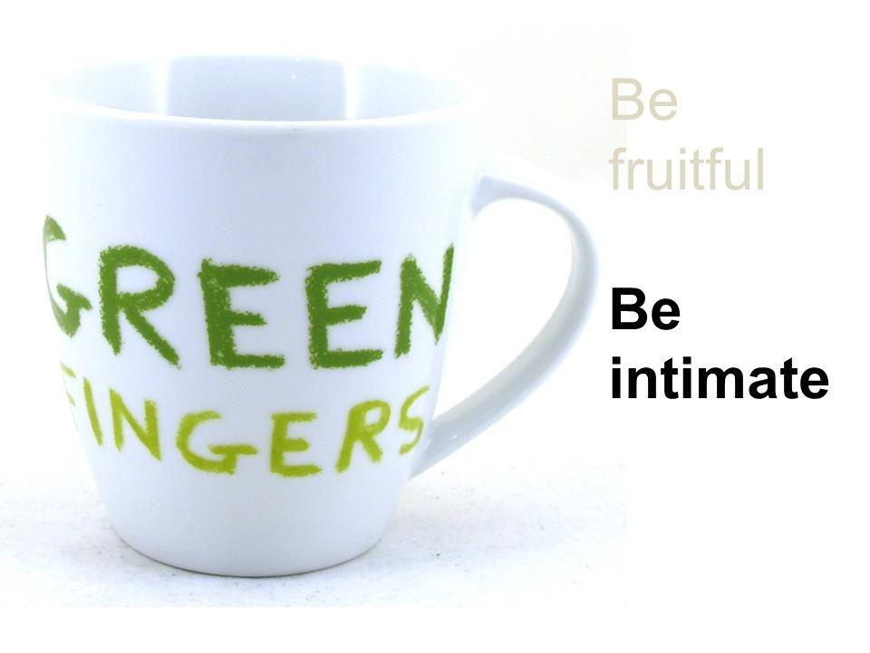 Be fruitful Be intimate Be joyful