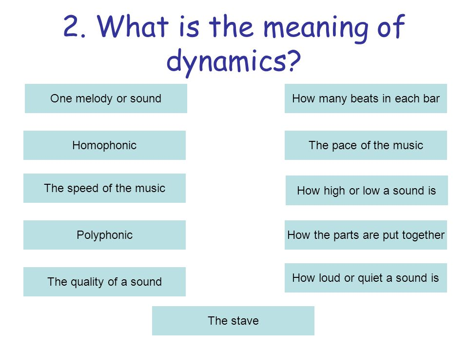 2.What is the meaning of dynamics.