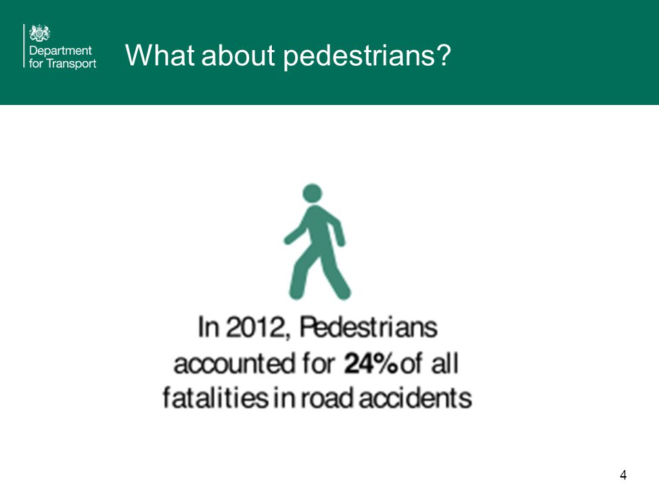 4 What about pedestrians?