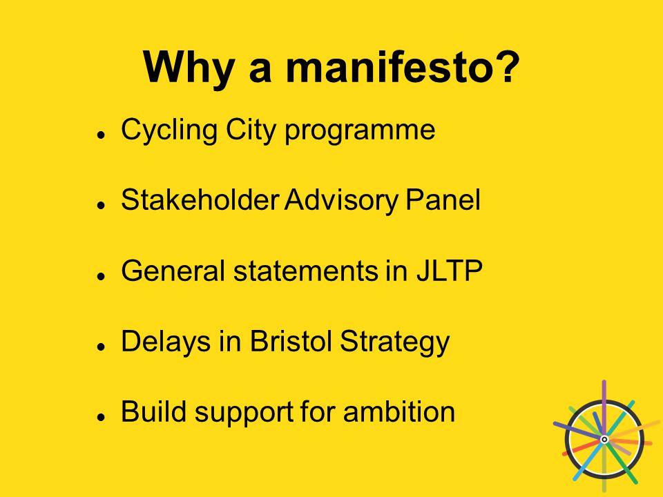 Why a manifesto.