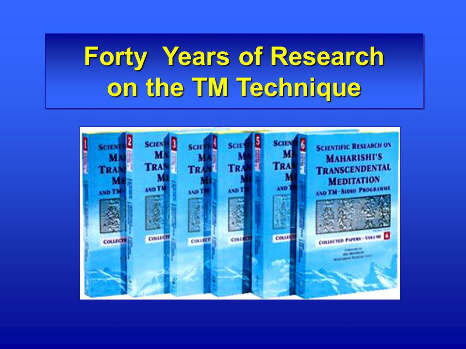 Forty Years of Research on the TM Technique