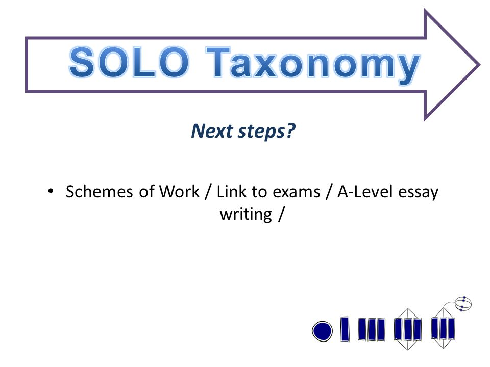 Next steps? Schemes of Work / Link to exams / A-Level essay writing /
