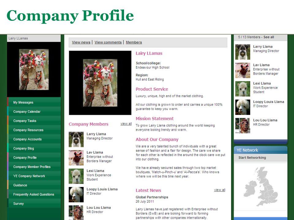 Main Menu Company Profile