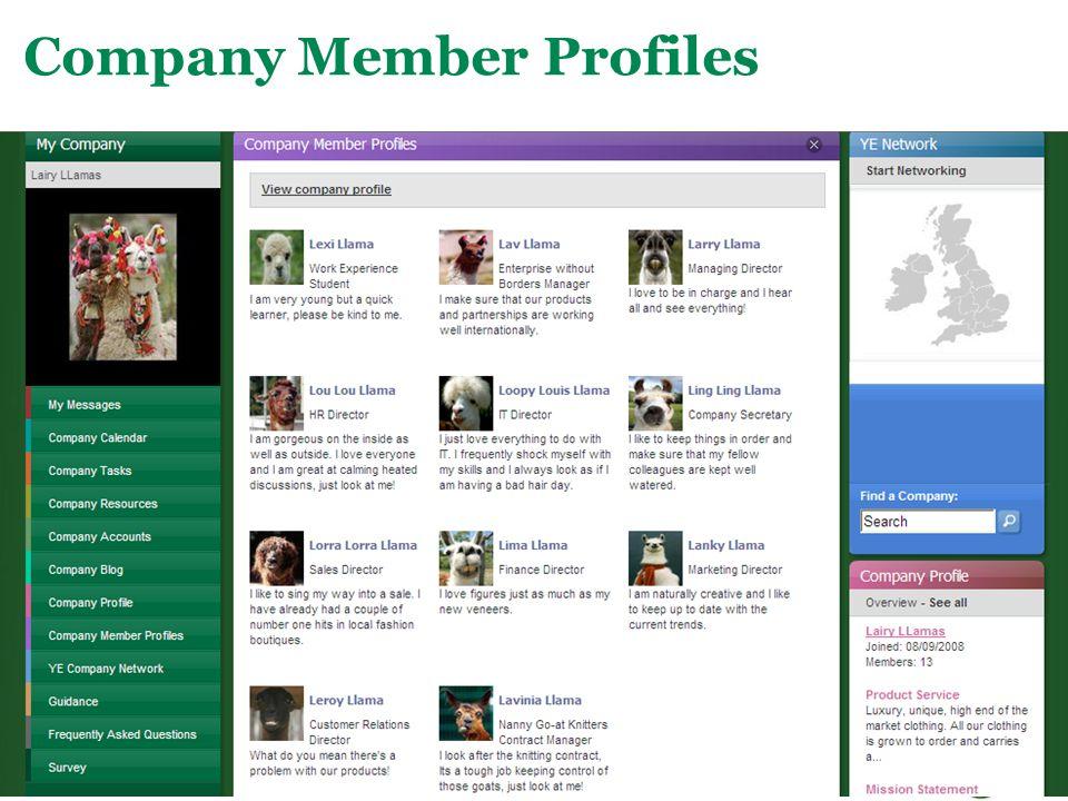 Main Menu Company Member Profiles