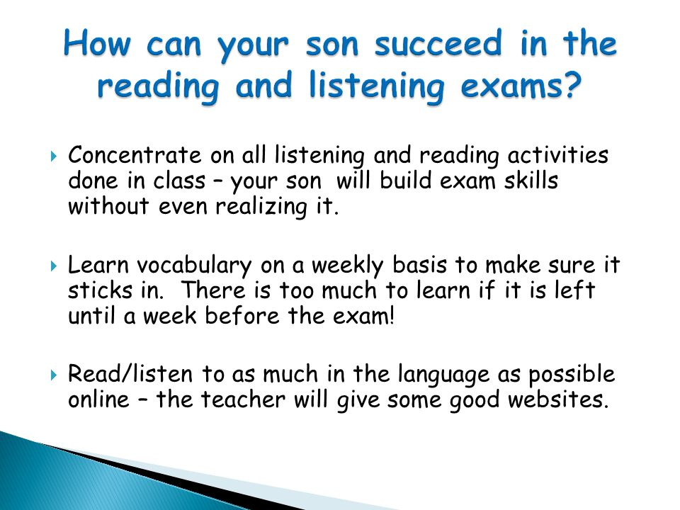 Unit 2 = Two controlled speaking assessments lasting 4-6 minutes each and worth 30% of the final GCSE grade (15% each one) These examinations will be taken in Year 11 when the teacher thinks the class is fully prepared and ready for the exam.