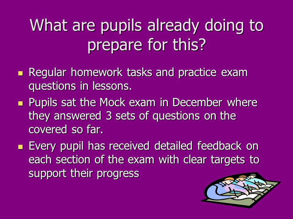What are pupils already doing to prepare for this.