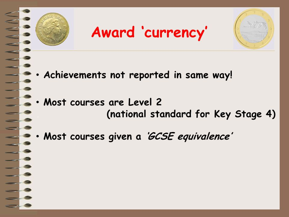 Award 'currency' Achievements not reported in same way.