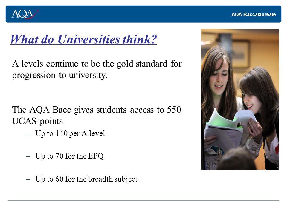 AQA Baccalaureate What do students gain.