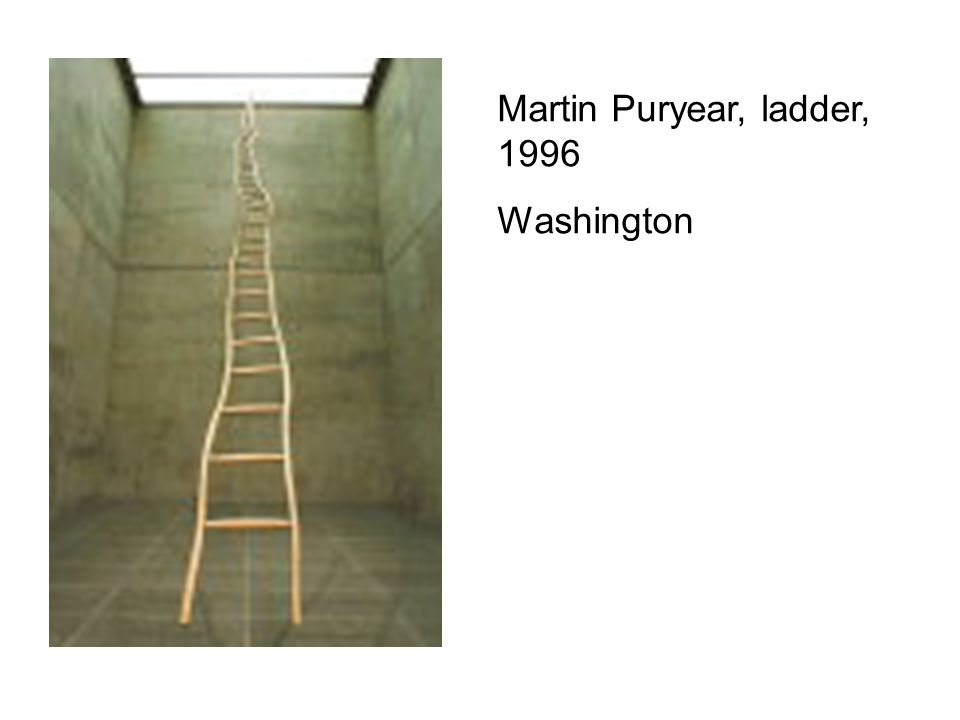 Martin Puryear, ladder, 1996 Washington