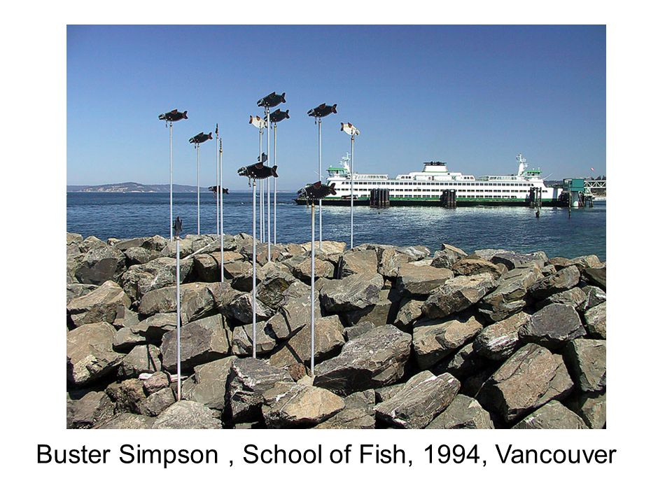 Buster Simpson, School of Fish, 1994, Vancouver